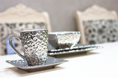Silver tea cup Stock Photography