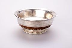 Silver tea cup Stock Photos