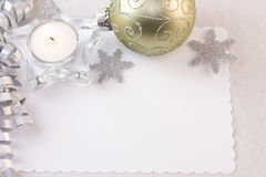 Silver tea light candle Royalty Free Stock Images