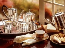 Silver Tea Service Stock Photography
