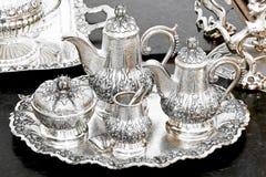 Free Silver Tea Set Royalty Free Stock Photography - 12747257
