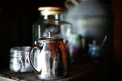 Silver tea set Royalty Free Stock Photos