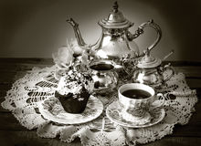 Silver Tea Set Stock Images