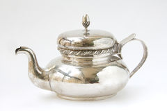 Silver teapot Royalty Free Stock Photography