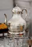 Silver teapot Royalty Free Stock Photos