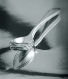 Silver teaspoon Royalty Free Stock Photos