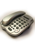 Silver telephone. My silver telephone - design of 90s Stock Photos