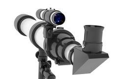 Silver Telescope on Tripod Stock Photography