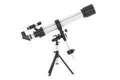 Silver Telescope on Tripod Royalty Free Stock Photo
