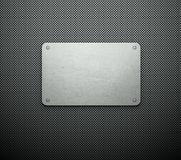 Silver template business card background Stock Photos