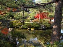 Silver temple garden Royalty Free Stock Image