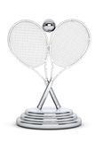 Silver Tennis Trophy Stock Photos