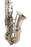 Silver tenor sax Royalty Free Stock Image