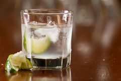 Silver tequila on the rocks Stock Image