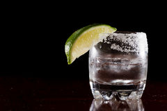Silver tequila Stock Photos