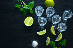 Silver tequila - Traditional Mexican drink Royalty Free Stock Photography