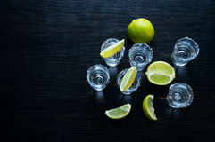 Silver tequila - Traditional Mexican drink Royalty Free Stock Photo