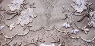 Silver textile Stock Images