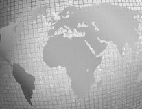 Silver textured world map Stock Image