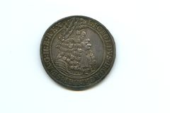 Silver thaler of Leopold I Royalty Free Stock Images