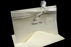 Silver Thank You Stock Images