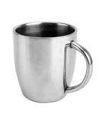 Silver thermos mug Stock Images