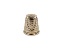 Silver thimble Stock Photography