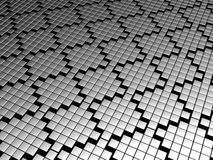 Silver tile pattern background Royalty Free Stock Photos