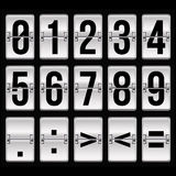 Silver timetable numbers Stock Image