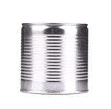 Silver tin can. Royalty Free Stock Photography