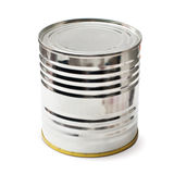 Silver tin with clipping path Stock Photos