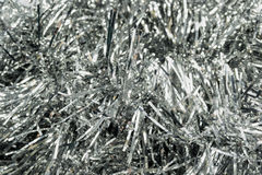 Silver tinsel Stock Photo