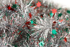 Silver tinsel Royalty Free Stock Photo