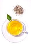 Silver tips tea top view over white background Stock Photography