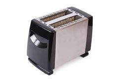 Silver toaster isolated on white background Stock Images