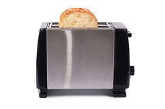 Silver toaster isolated on white background Royalty Free Stock Photos