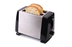 Silver toaster isolated on white background Stock Photo