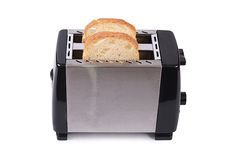 Silver toaster isolated on white background Stock Photography