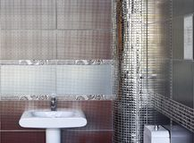 Silver toilet Royalty Free Stock Photography