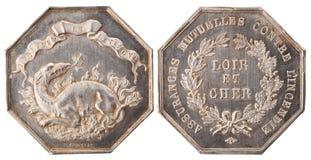 Silver token Stock Photos