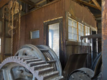Silver Top Mine Hoist House Royalty Free Stock Photos
