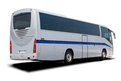 Silver Tour Bus Stock Photography