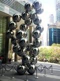 Silver Transparent Balls Statue Stock Photography