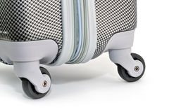 Silver travel luggage Stock Images
