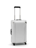 Silver travel suitcase  Stock Photos