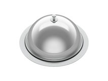 Silver tray for food. Vector illustration Royalty Free Stock Images