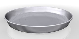 Silver tray service Stock Photography