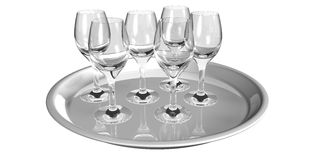 Silver tray service Stock Image