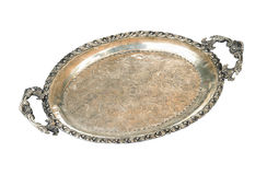 Silver tray Stock Photos