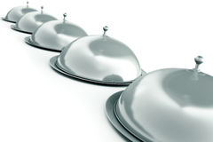 Silver trays Royalty Free Stock Photo